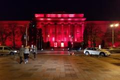 Kyiv National Taras Shevchenko University at night