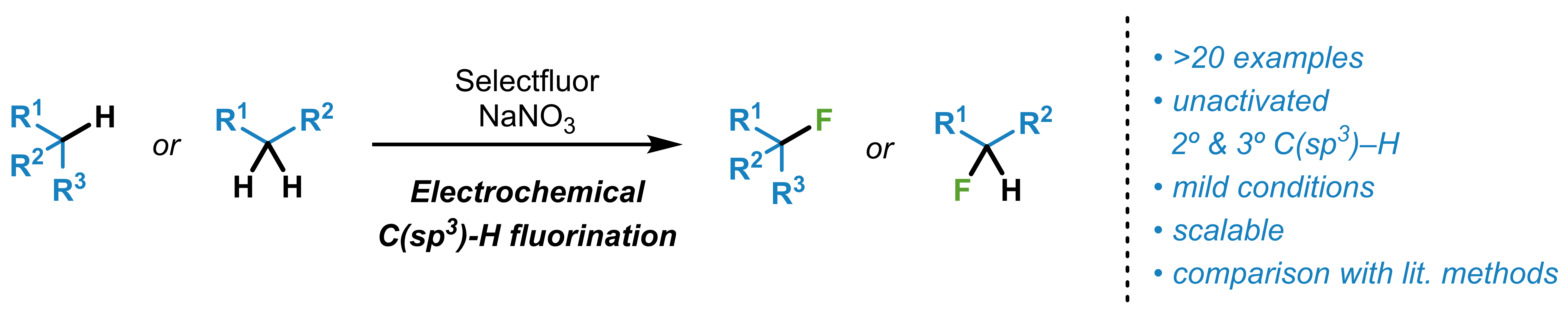Electrochemical C(sp3)–H Fluorination