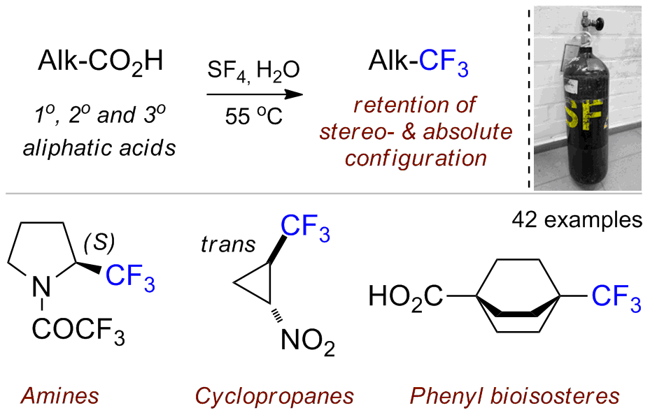 Deoxofluorination of Aliphatic Carboxylic Acids: A Route to Trifluoromethyl-Substituted Derivatives