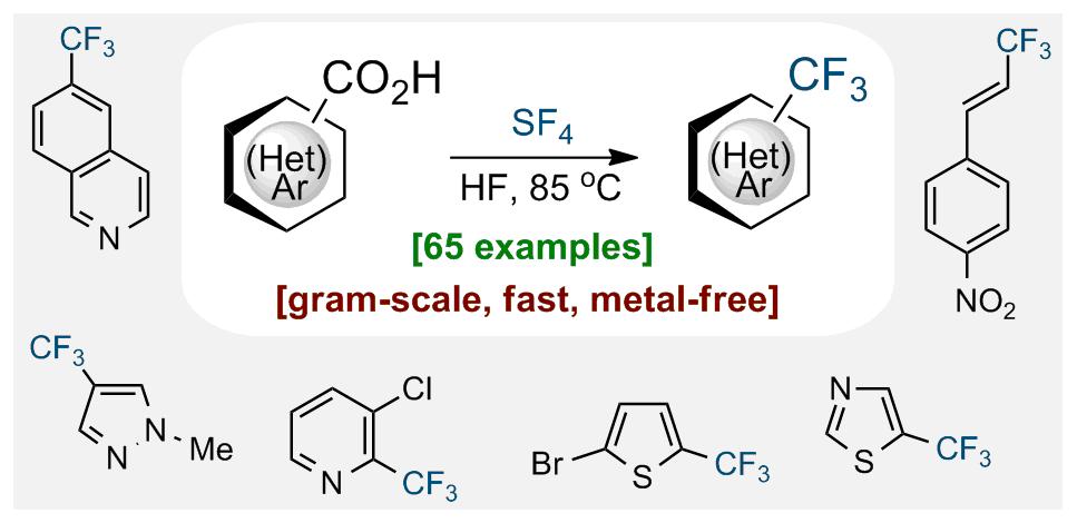 Deoxofluorination of (Hetero)aromatic Acids